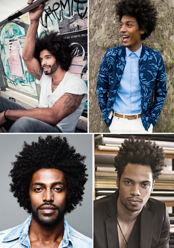 inspire se em cortes e penteados afro masculinos