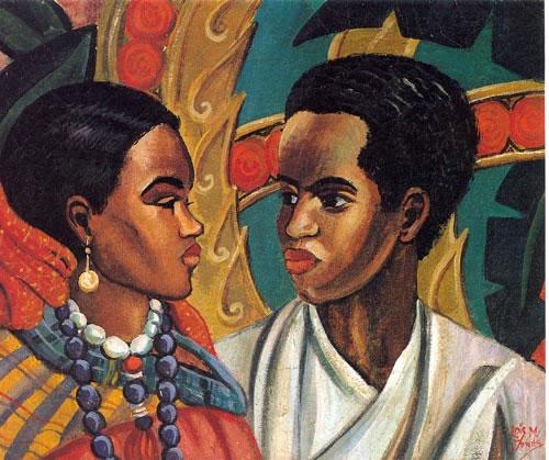 mequetrefismos-artistas-negras_lois mailou jones_the lovers_1950